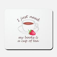 BOOKS AND TEA Mousepad