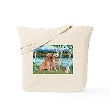 Birches / Golden Tote Bag