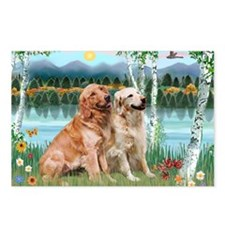 Birches / Golden Postcards (Package of 8)