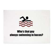 Swimming In Bacon 5'x7'Area Rug