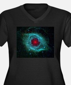 Helix Nebula Women's Plus Size V-Neck Dark T-Shirt