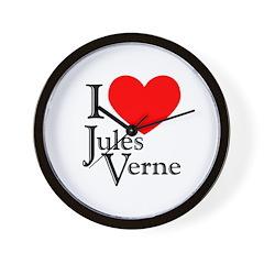 I Love Jules Verne Wall Clock