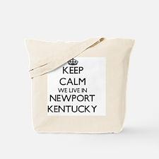Keep calm we live in Newport Kentucky Tote Bag