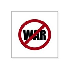"Cute Anti war Square Sticker 3"" x 3"""