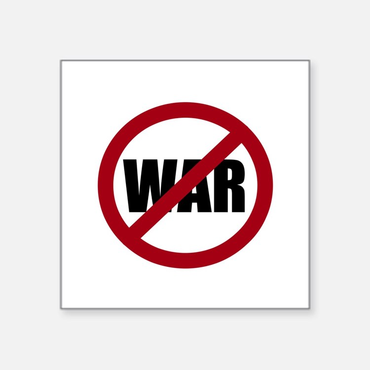 """Cute Anti war Square Sticker 3"""" x 3"""""""