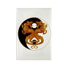Yin Yang Dragons 7 Rectangle Magnet