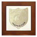 U S Immigration Inspector Framed Tile