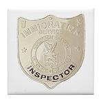 U S Immigration Inspector Tile Coaster