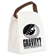 Gravity? Rock Climber Canvas Lunch Bag