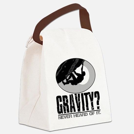 Gravity? Rock Climber Canvas Lunch Bag