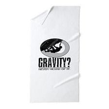 Gravity? Rock Climber Beach Towel