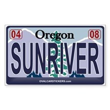 Oregon Plate - SUNRIVER Sticker (Rectangular