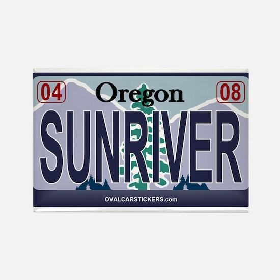 Oregon Plate - SUNRIVER Rectangle Magnet