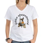 Gaelic Witch Scene Women's V-Neck T-Shirt