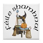 Gaelic Witch Scene Tile Coaster