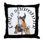 Gaelic Witch Scene Throw Pillow