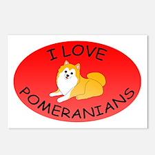 I Love Pomeranians Postcards (Package of 8)