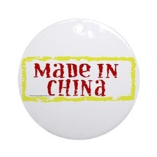 Made in China Ornament (Round)