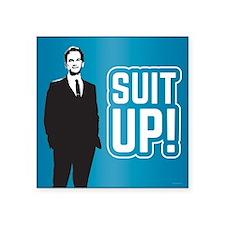 "HIMYM Suit Up Square Sticker 3"" x 3"""