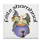 Little Irish Witches Tile Coaster