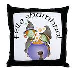 Little Irish Witches Throw Pillow
