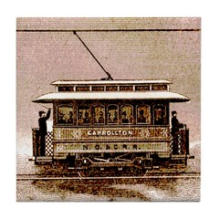 Old Carrollton Streetcar Tile Coaster