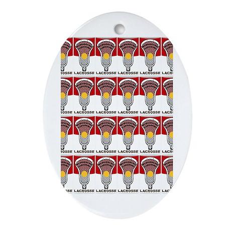 Lacrosse Soup Oval Ornament