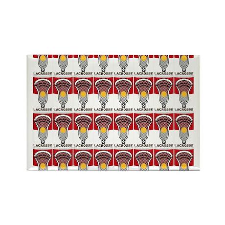 Lacrosse Soup Rectangle Magnet