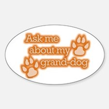 Grand-dog Oval Decal