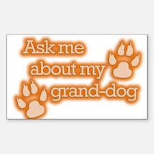 Grand-dog Rectangle Decal