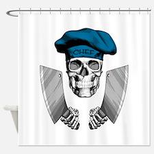 Butcher Skull Shower Curtain