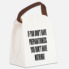 PREPARATIONESS Canvas Lunch Bag