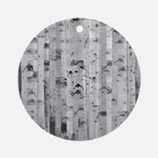 pixated aspen forest Ornament (Round)