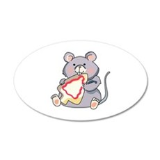 Mouse Eatting Cookie Wall Decal