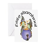 Little Irish Witches Halloween Cards (10)