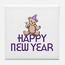 Large Happy New Year Tile Coaster