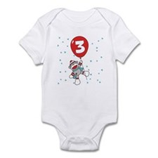 Sock Monkey 3rd Birthday Infant Bodysuit