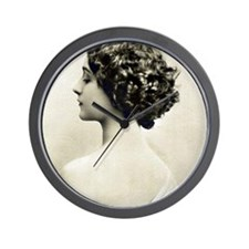 Wall Time Clock: Vintage Woman