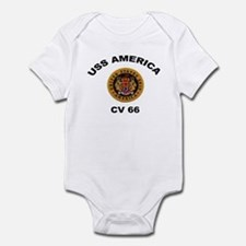 CV-66 USS America Infant Bodysuit