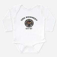 USS John Kennedy CV-67 Long Sleeve Infant Bodysuit