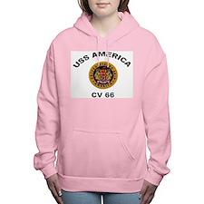 CV-66 USS America Women's Hooded Sweatshirt