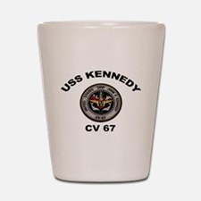 USS John Kennedy CV-67 Shot Glass
