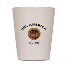 CV-66 USS America Shot Glass