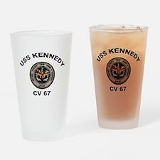 USS John Kennedy CV-67 Drinking Glass