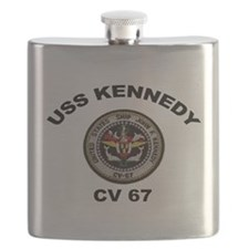 USS John Kennedy CV-67 Flask