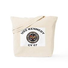 USS John Kennedy CV-67 Tote Bag