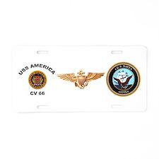 CV-66 USS America Aluminum License Plate