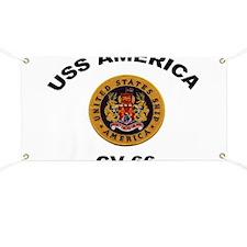 CV-66 USS America Banner