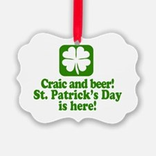Funny St Patricks Day Party Ornament
