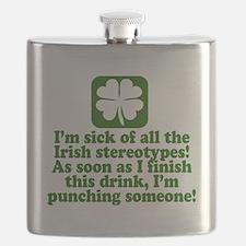 Funny St Patricks Day Party Flask